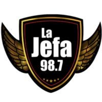 Logo of radio station XHMQ La Jefa 98.7 FM