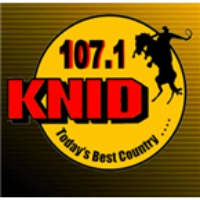 Logo of radio station KNID 107.1