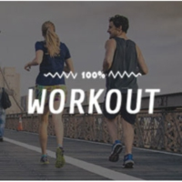 Logo of radio station 100FM - Workout