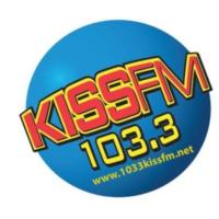 Logo of radio station KCRS 103.3 KISS FM