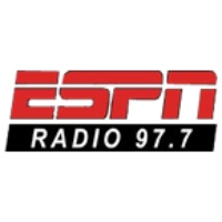 Logo of radio station KNBB ESPN 97.7