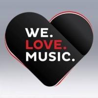 Logo of radio station WE. LOVE. MUSIC.