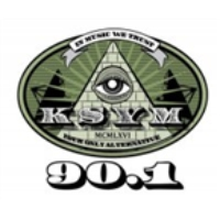 Logo of radio station KSYM 90.1