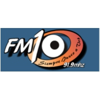 Logo of radio station FM Diez