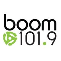 Logo of radio station CKKY-FM boom 101.9
