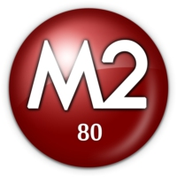 Logo of radio station M2 80