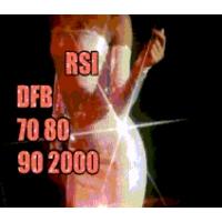 Logo of radio station RSI DFB 70s 80s 90s 2000s