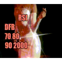 Logo of radio station RSI DFB 70s 80s 90s 2000s