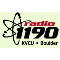Logo of radio station KVCU