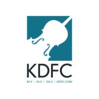 Logo of radio station KDFC