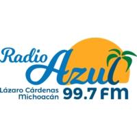 Logo of radio station XHLAC Radio Azul 99.7 FM