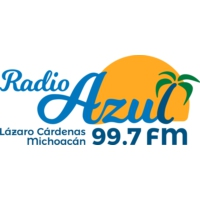 Logo of radio station XHLAC Radio Azul 99.7 FM