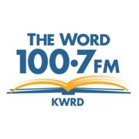 Logo of radio station KWRD The Word 100.7 FM