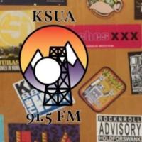 Logo of radio station KSUA 91.5 FM