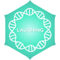 Logo of radio station Positivity Laughing