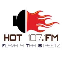 Logo de la radio Hot 107.1