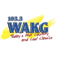 Logo of radio station 103.3 WAKG