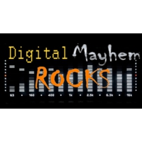 Logo of radio station Digital Mayhem Rocks