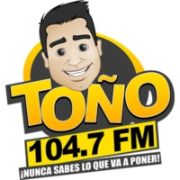 Logo of radio station XHCNE-FM Toño FM 104.7