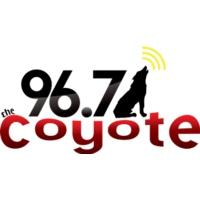 Logo of radio station KCYT 96.7 The Coyote