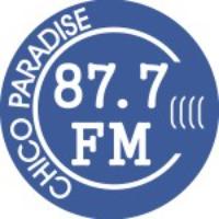 Logo of radio station KEFM Chico Paradise