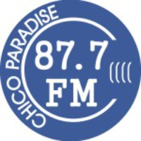 Logo of radio station KEFM Chico Paradise