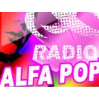 Logo de la radio Alfa Pop