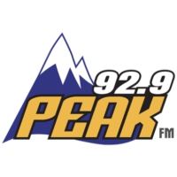 Logo of radio station KKPK 92.9 Peak FM