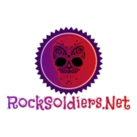 Logo of radio station Rocksoldiers.net Hair metal, metal,  metal, and more Metal!