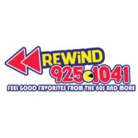 Logo of radio station KFLX Rewind