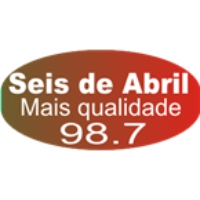 Logo of radio station Rádio 6 de Abril FM 98.7 FM Cruz
