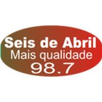 Logo de la radio Rádio 6 de Abril FM 98.7 FM Cruz