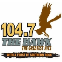 Logo de la radio WTHG The Hawk 104.7