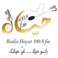 Logo of radio station Hayat FM 100.8