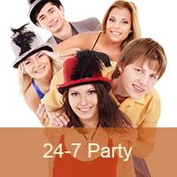Logo of radio station 24-7 Pop Party