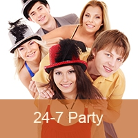 Logo de la radio 24-7 Pop Party
