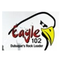 Logo of radio station KXGE Eagle 102