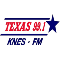 Logo of radio station KNES Texas 99 Live