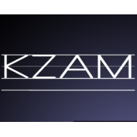 Logo of radio station KZAM