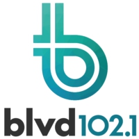 Logo of radio station BLVD 102.1