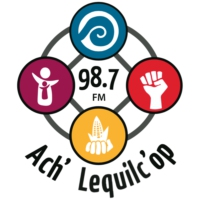 Logo of radio station XHBAK Radio Ach' Lequilc' Op 98.7 FM