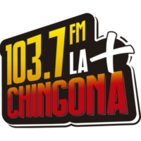 Logo of radio station XHVSS 103.7 FM La + Chingona