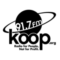 Logo of radio station KOOP 91.7 FM