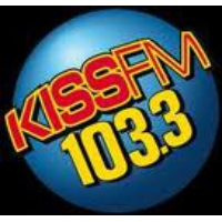 Logo of radio station KCRS KISS FM 103.3