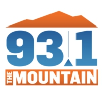 Logo of radio station KYMT 93.1 The Mountain