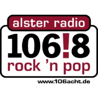 Logo de la radio 106!8 rock 'n pop