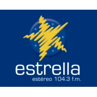 Logo of radio station Estrella Estéreo 104.3 fm