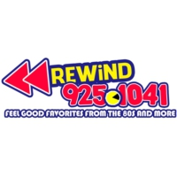 Logo of radio station KFLX Rewind