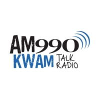 Logo of radio station KWAM 990