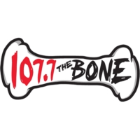 Logo of radio station KSAN 107.7 The Bone